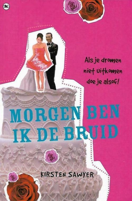 fel roze kaft bruiloft taart rozen