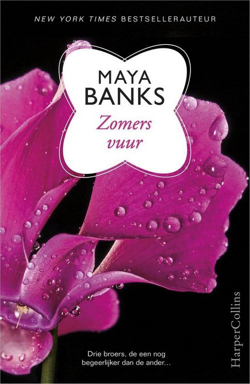 zwarte kaft met roze fuchsia bloem erotisch maya banks roman